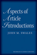 "Post image for John Swales' ""Aspects of Article Introductions"" in the Journal of English for Academic Purposes"