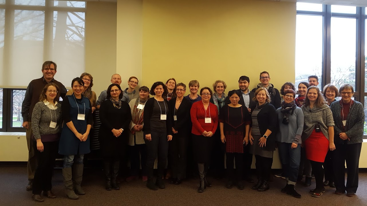 Attendees of Kress sponsored the Describing Visual Resources in Arts and Humanities Publications Workshop pose for a group photo.