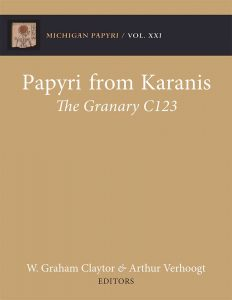 "cover of ""Papyri from Karanis: The Granary C123"""