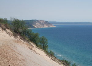 Image of Sleeping Bear Dunes National Lakeshore to accompany book excerpt from Great Lakes Rocks